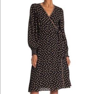 NWT Max Studio Dot Wrap Dress Size XL